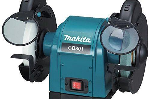 Makita GB801 Doppelschleifbock 205 mm, Schwarz, Cyan, 450 mm